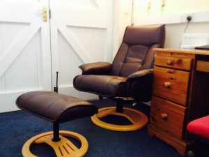 Hypnotherapy Chair at the Coach House, Cambridge